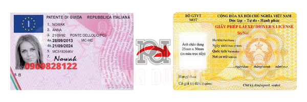 Đổi bằng lái xe Ý sang Việt Nam